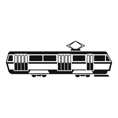 streetcar: Tram icon. Simple illustration of tram vector icon for web design Illustration