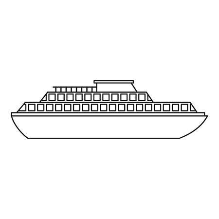Icona della nave da crociera. Descriva l'illustrazione dell'icona di vettore della nave per il web design