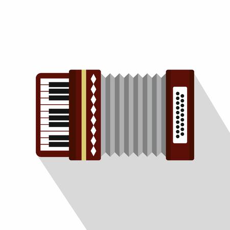 overtone: Russian folk accordion icon. Flat illustration of accordion vector icon for web design
