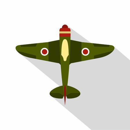 avion chasse: Militaire avion icon. illustration plat militaire avion de chasse icône vecteur pour le web