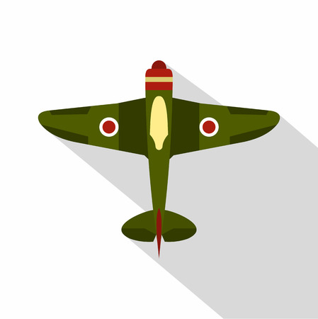 fighter plane: Military plane icon. Flat illustration of military fighter plane vector icon for web
