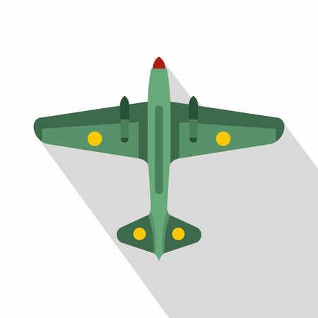 Military aircraft icon. Flat illustration of military aircraft vector icon for web Illustration