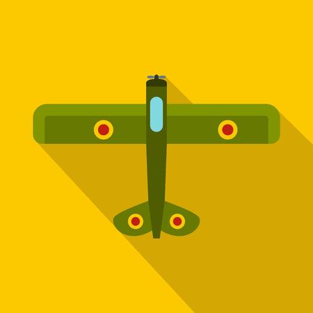 avion chasse: Militaire icône avion de chasse. illustration plat de chasseur vecteur icône web isolé sur fond jaune