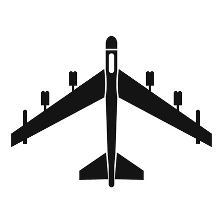 fighter jet: Armed fighter jet icon. Simple illustration of armed fighter jet vector icon for web