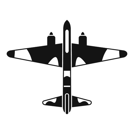 Military fighter aircraft icon. Simple illustration of vector icon for web