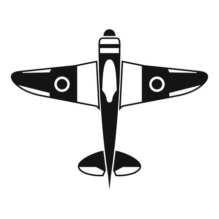 avion chasse: Militaire icône avion de chasse. Illustration simple militaire avion de chasse icône vecteur pour le web