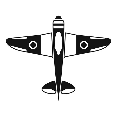 fighter plane: Military fighter plane icon. Simple illustration of military fighter plane vector icon for web Illustration