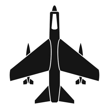 armed: Armed fighter jet icon. Simple illustration of armed fighter jet vector icon for web