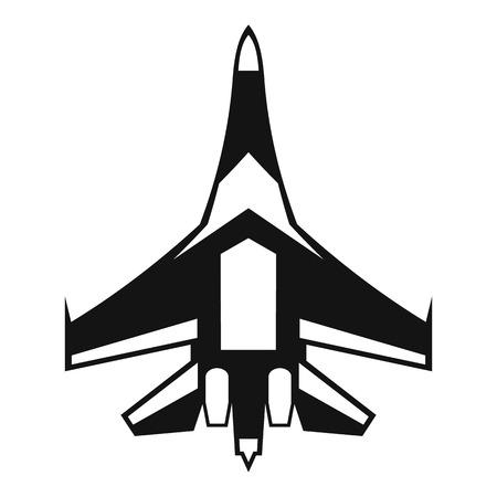 avion chasse: Jet fighter icon. illustration simple de jet avion de chasse vecteur icône web Illustration
