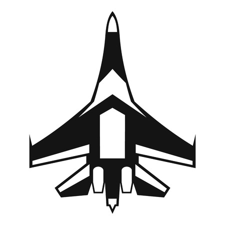 fighter plane: Jet fighter plane icon. Simple illustration of jet fighter plane vector icon for web