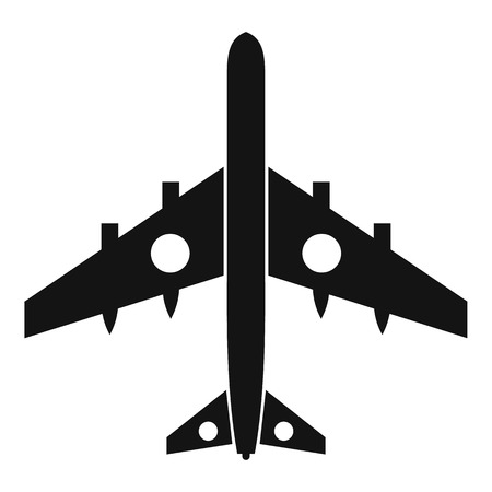 avion de chasse: Military fighter plane icon. Simple illustration of military fighter plane vector icon for web Illustration