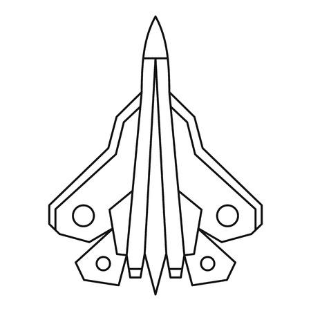 avion chasse: Militaire icône avion de chasse. Outline illustration de chasseur icône vecteur pour le web