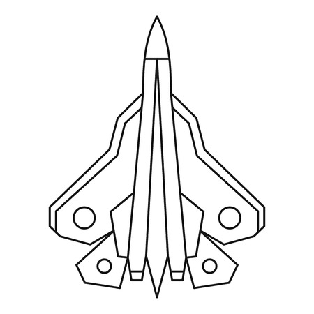fighter plane: Military fighter plane icon. Outline illustration of fighter plane vector icon for web Illustration