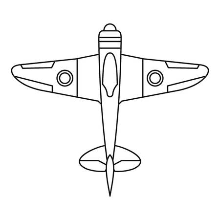fighter plane: Military fighter plane icon. Outline illustration of military fighter plane vector icon for web