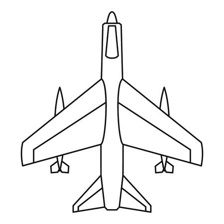 fighter jet: Armed fighter jet icon. Outline illustration of armed fighter jet vector icon for web Illustration