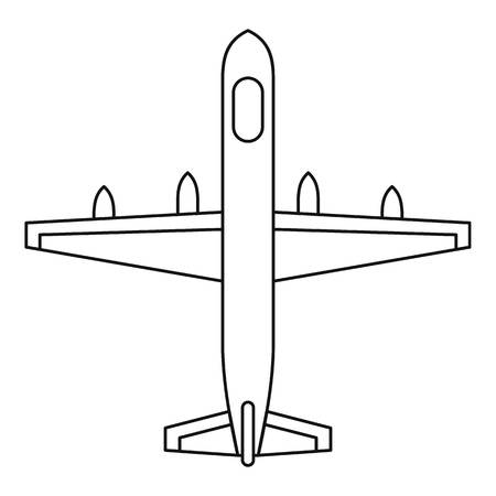boeing: Plane icon. Outline illustration of plane vector icon for web