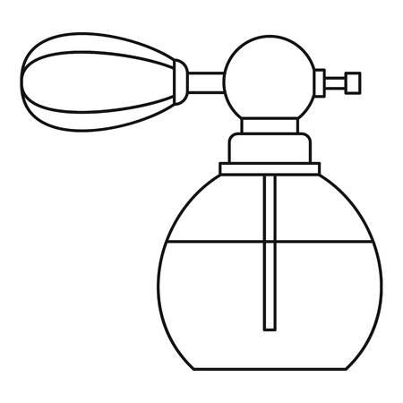 pulverizer: Vintage perfume bottle icon. Outline illustration of vintage perfume bottle vector icon for web