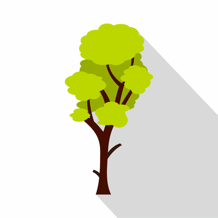 Green linden icon. Flat illustration of linden vector icon for web