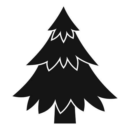 coniferous tree: Coniferous tree icon. Simple illustration of coniferous tree vector icon for web