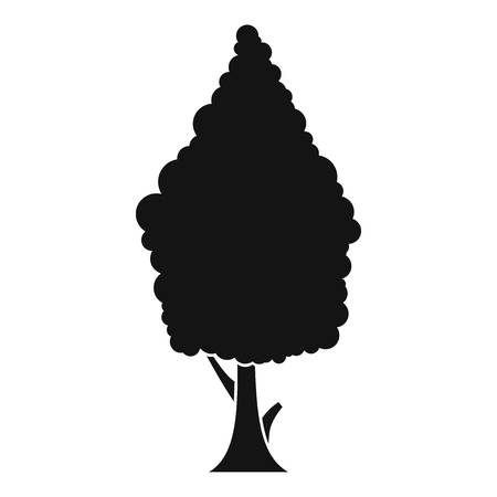 cypress tree: Cypress icon. Simple illustration of cypress vector icon for web