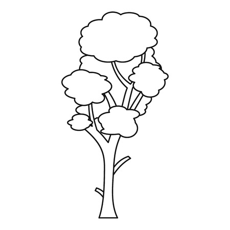 Linden tree icon. Outline illustration of tree vector icon for web