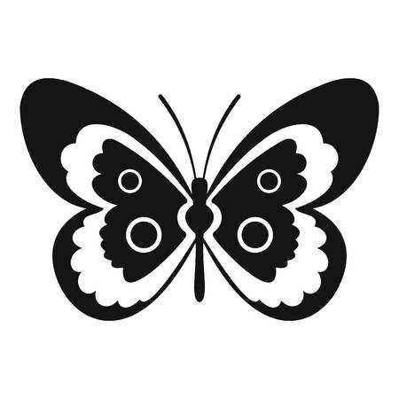 Butterfly icon. Simple illustration of butterfly vector icon for web Illustration