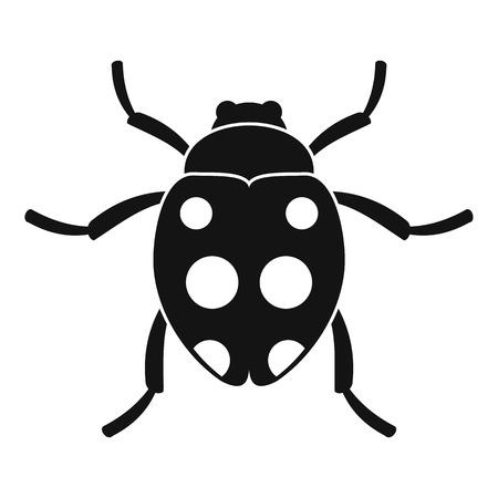 Ladybug icon. Simple illustration of ladybug vector icon for web