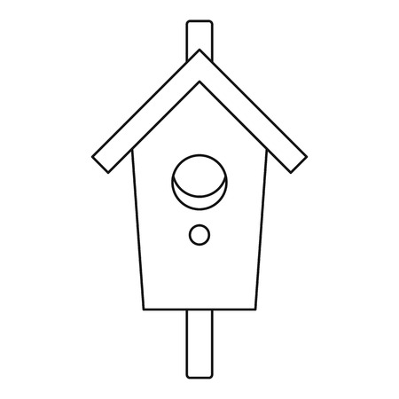 nesting box: Nesting, box icon. Outline illustration of nesting, box vector icon for web