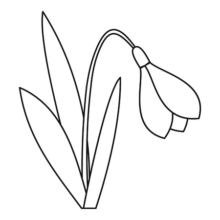 Bell flower icon. Outline illustration of bell flower vector icon for web Ilustrace