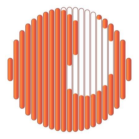 Orange circular loading icon. Cartoon illustration of orange circular loading vector icon for web