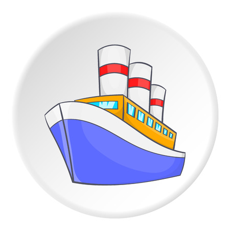 titanic: Steamship icon. Isometric illustration of steamship vector icon for web