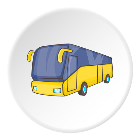 schoolbus: Bus icon. Isometric illustration of bus vector icon for web