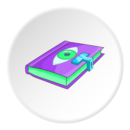 bewitchment: Magic book icon. Isometric illustration of magic book vector icon for web