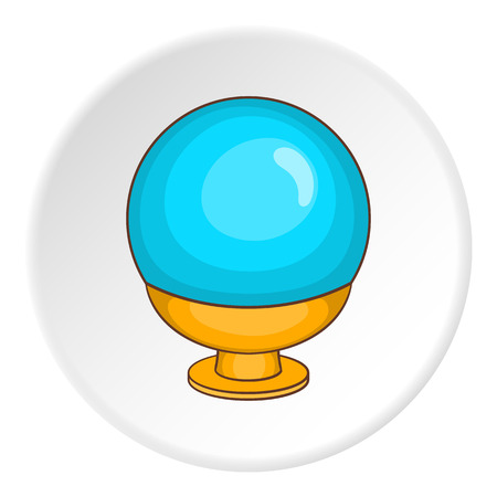 soothsayer: Magic ball icon. Cartoon illustration of magic ball vector icon for web Vectores