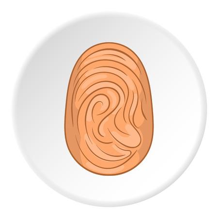 findings: Fingerprint icon. Flat illustration of fingerprint vector icon for web Illustration