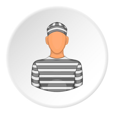 Prisoner icon. Flat illustration of prisoner vector icon for web Illustration