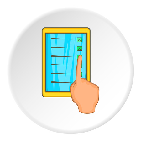 Tablet icon. Cartoon illustration of tablet vector icon for web