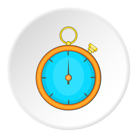 Stopwatch icon. Flat illustration of stopwatch vector icon for web