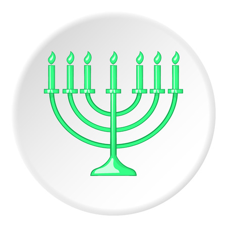 zionism: Hanukkah icon. Flat illustration of hanukkah vector icon for web