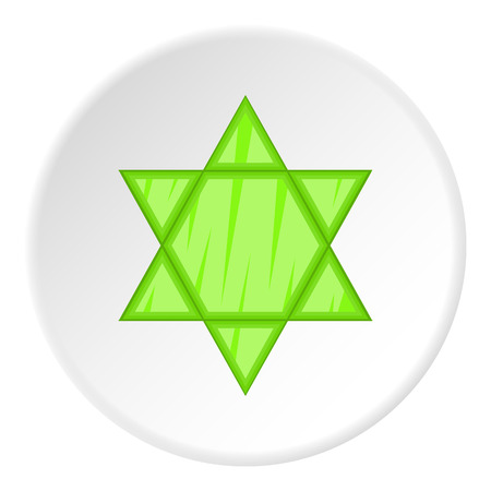 Star of David icon. Flat illustration of star of David vector icon for web Illustration