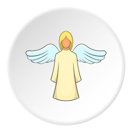 valentine cherub: Angel icon. Flat illustration of angel vector icon for web