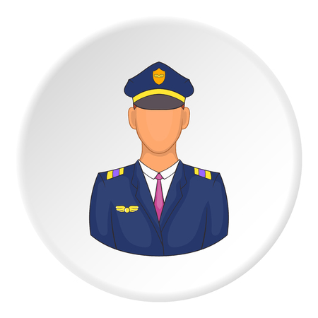 captain cap: Pilot icon. Flat illustration of pilot vector icon for web Illustration