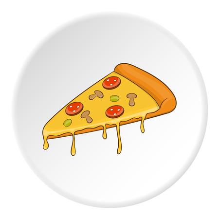 Pizza icon. Isometric illustration of pizza vector icon for web Illustration