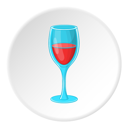 Glass of wine icon. Cartoon illustration of glass of wine vector icon for web