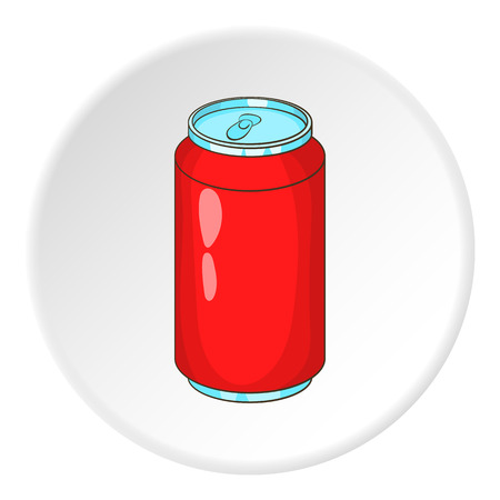 lata de refresco: Lata de refresco icono. Ilustración de dibujos animados de lata de refresco vector icono para web