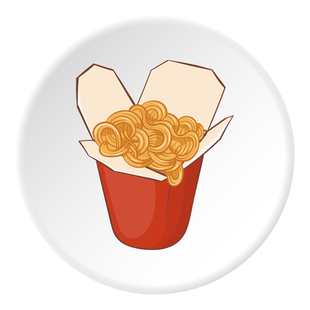 Pasta icon. Cartoon illustration of pasta vector icon for web