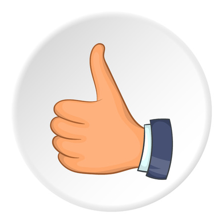 Thumb up icon. Flat illustration of thumb up vector icon for web Illustration
