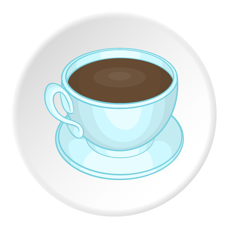mocca: Coffee cup icon. Cartoon illustration of coffee cup vector icon for web