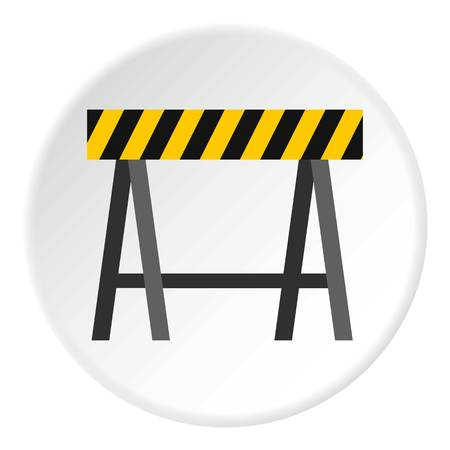 Prohibitory road sign icon. Flat illustration of prohibitory road sign vector icon for web