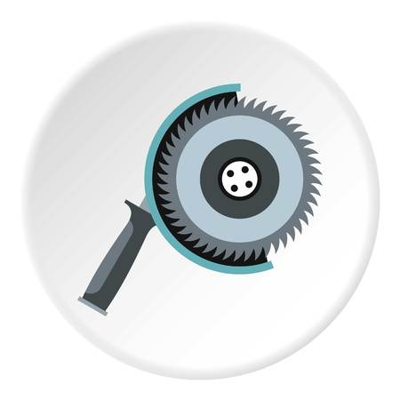 circular saw: Circular saw icon. Flat illustration of circular saw vector icon for web Illustration